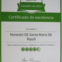 GUARDÓ DE TRIP ADVISOR PER AL MONESTIR